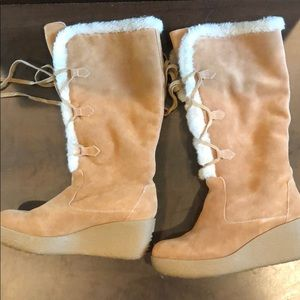 Michael kors leather winter boots